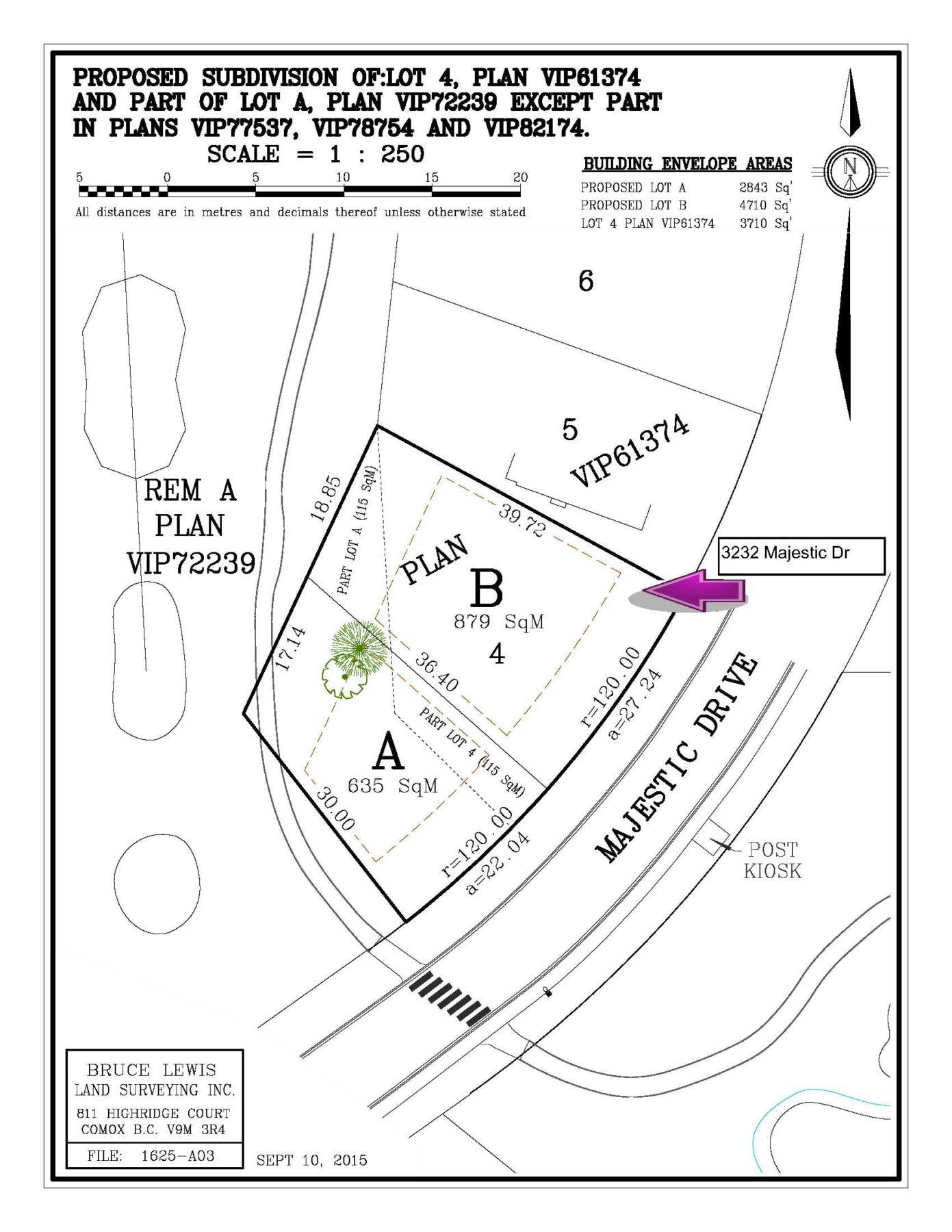 Proposed Subdivision Plot Plan
